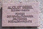 Gedenktafel August Bebel